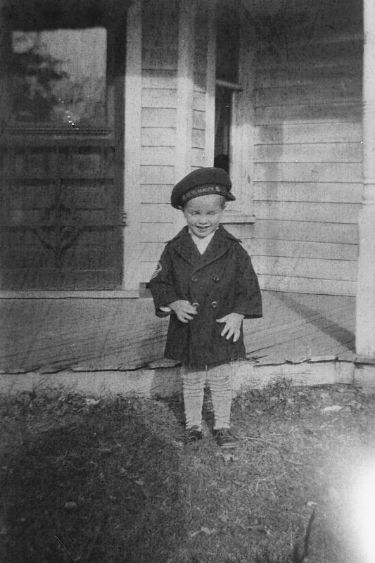unknown child in navy outfit