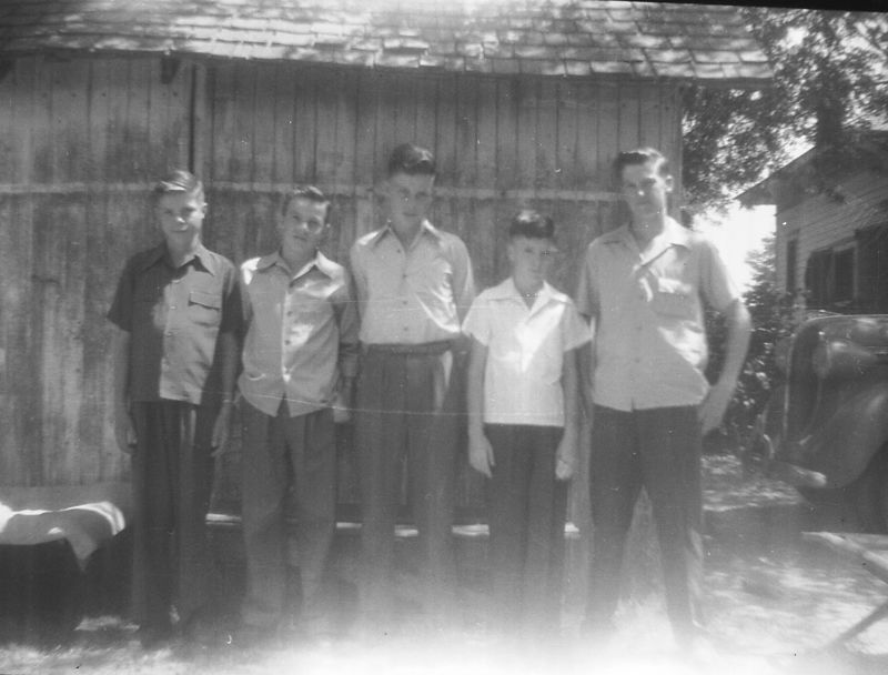 Herb Glines is second from the left