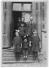 Back row:  ?, Khinke Treszczanski, Josef Olszanicki<br /> Front row:  Rachel Olszanicki, Jechezkiel Olszanicki, Fishel Olszanicki, Chaja Olszanicki<br /> <br /> Photo taken by Dave Bloom on his 1923 trip to Goniadz, Poland