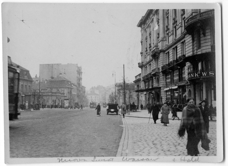 Warsaw<br /> <br /> Photo taken by Dave Bloom on his 1923 trip to Goniadz, Poland
