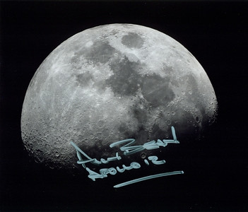 This is an image Lunar module pilot Bean signed that I took of the moon from my home on the evening of April 9, 2009. I used my 4 inch Edmund F-15 Refractor ( from the 1960's) with a Nikon 990 Digital Camera. Mr Bean was impressed with this image and askewd to keep a copy for himself. So I gave him two!!