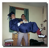 """What A Lift!""<br /> Wilfred (Jr) Hall lifts his Godson, Kevin Hall."