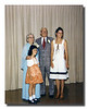 Rose (Couture) & Wilfred Hall at their 50th Anniversary party with grandchildren Pamela (l) & Gail (r) Hall, 1977.