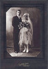"""Wilfred and Rose Hall""<br /> My paternal grandparents, Wilfred J. Hall & Rose (Couture),  on their wedding day, 5/30/1927."