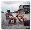 """Beach Bums""<br /> Wilfred (Jr) & Donald Hall keeping an eye on the activities at Seabrook Beach, NH, 1975."