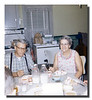 Pepere & Memere Hall enjoying some cake, 1965.