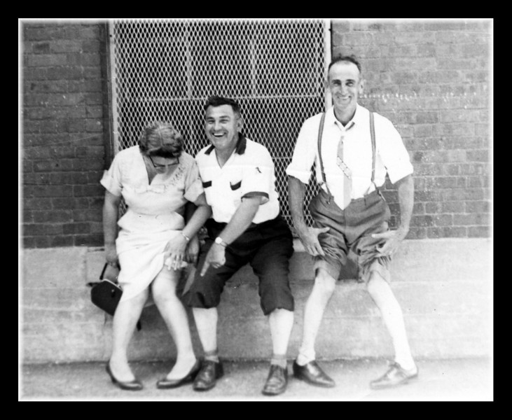 """""""Look At Those Legs!""""<br /> Rose (Couture) Hall, Gerry & Louis Couture goofing around."""