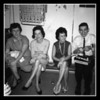 """Christmas Day 1963""<br /> In Uncle Cliff's cellar (l-r); Theresa (Graham), Dolly (Belleville), Doris (Pinette) & Robert Hall."