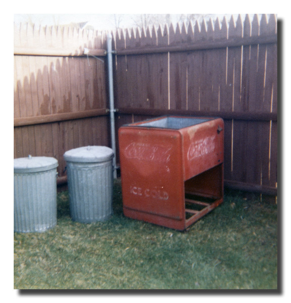 """The Old Cooler""<br /> Remember the old Coke cooler? We had a lot of sodas from that thing, not Coke though. We always had Dracut Home Beverages tonic made fresh & local."