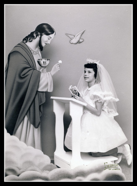 Gail Hall's First Communion picture.