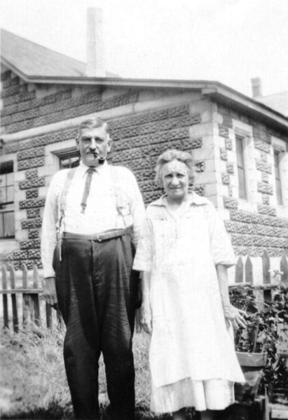 My paternal great grandparents, Joseph A. Houle/Hall and Mary Olivine (Gendreau) Hall, in 1924. Joseph was born with the surname Houle but adopted the name Hall when his father did. Not sure where this photo was taken, but it is believed to be in Lowell, MA.