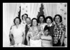 "Rose (Couture) Hall, Doris Landry, Henry & Odna (Couture) Marchand, Unknown woman, Dolly Belleville & Ruth Hall.<br /> Front; Roger ""Butch"" Hall. Who's the mystery woman?"