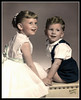"""What A Cute Kid""<br /> Boy, that kid on the right is cute!<br /> Cheryl Ann & Michael Hall"