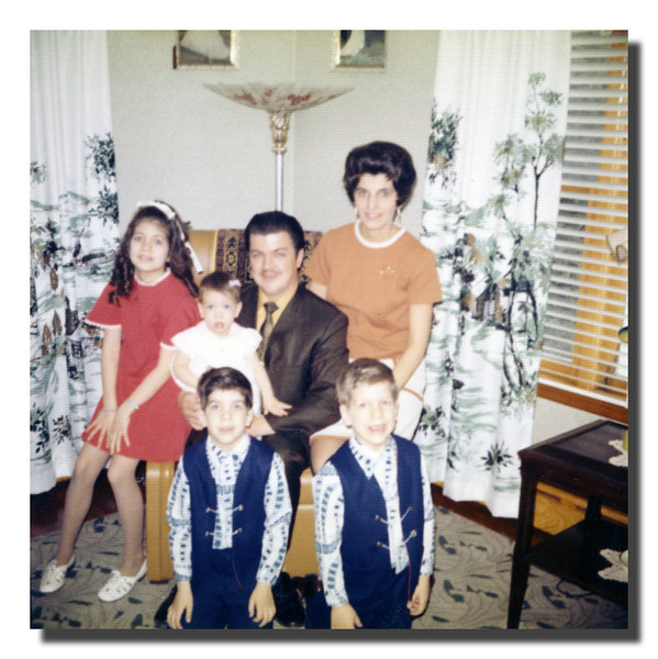 """The Martineau Family""<br /> Back row (l-r); Susan, Kathy, Roger & Patricia (Hall) Martineau.<br /> Front row (l-r); David & Paul Martineau, 1972. I never knew they were twins!"