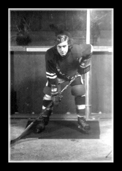 """NHL Bound?""<br /> Michael Hall circa 1973-1974."