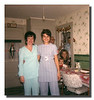 """Check Us Out!""<br /> Dolly (Belleville) Hall & Patricia (Hall) Martineau, Christmas day at Memere & Pepere's house."