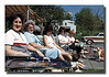"""Strike A Pose""<br /> Taking in some rays at a cookout at Memere & Pepere's house, (l-r) Ruth (Hall)Asselin, Memere Rose (Couture) Hall, Patricia (Hall) Martineau, Sandra (Troville) Hall & Carole (Flemming) Hall."