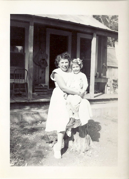 Bernice Ford Harris and Helen Carl at Lowell Hill