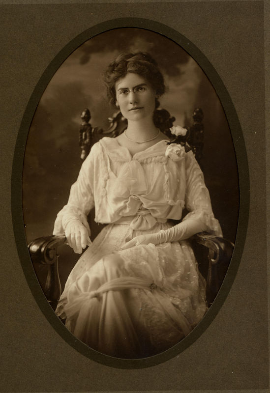 Ruth Harrison (1888-1964) the daughter of William Ellis Harrison and Sigismunda Taylor Ellis.  She married Louis Ferrell January 19, 1921.