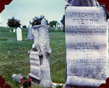 Joachim G. and Mary E. Paetow Headstone