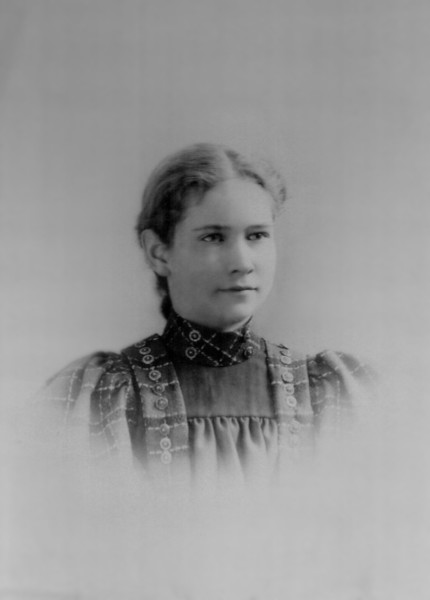 Josephine Odell, future wife of Malcolm Benjamin Mook, Age 12 (December 1896)