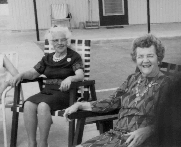 Sisters-in-Law Frances McNamee Hill, and Gladys Hill Johnson Kapp, in Ft. Lauderdale, Florida, 1963