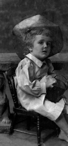 Dana Emmons Hill, about 1898 (Age 3)