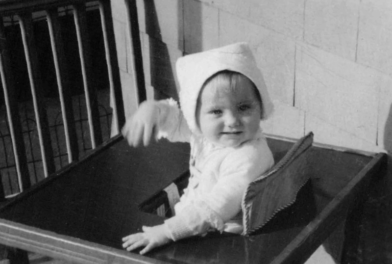 Diana Hill, daughter of Victor Hill, son of Harry Newton Hill (Age 1-1/2 years; born July 3, 1942)