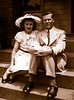 """Rosemary Lanahan, Walter (""""Red"""") Hilmes<br /> <br /> ca 1945"""