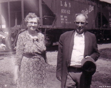 Emma & Elmer (Apr. 28, 1960 - the day Elmer retired from L & N Railroad)
