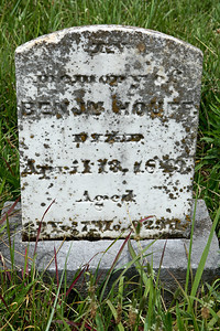 Benjamin Houff aged April 13, 1849. Aged 69 years, 7 months, 29 days