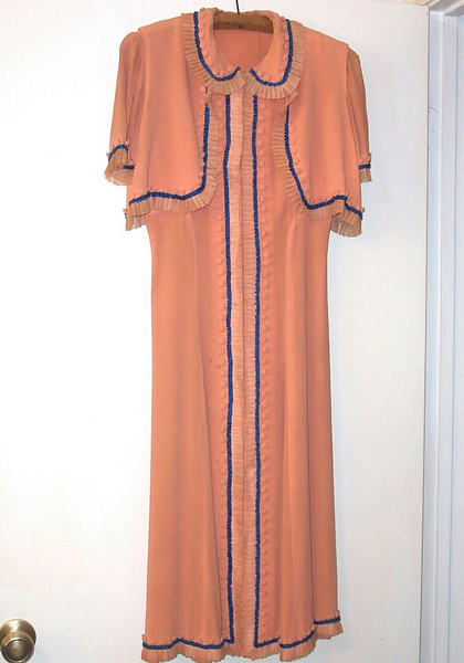 Auntie Ruth said that this dress, found in the back of Mamateen's closet, was the one that she wore for her wedding.