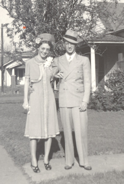 This is a picture of Christine and Allison Hull, possibly on their wedding day.