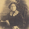 This is a closer image of the woman in the beautiful wooden case.  We assume she may be a member of the family as it was found in LA Hull's trunk with other family history type information; ie photos of others we knew, obituaries, school papers, deeds etc.