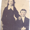 This is a tin or metal-type image of an unknown couple. We assume they are members of the family as the image was found in LA Hull's trunk with other family history type information; ie photos of others we knew, obituaries, school papers, deeds etc.  These folks do not look like anyone I know.  I can tell from this image that they have light eyes and dark hair.  Is it a marriage photo or are they brother and sister? If you know, share...