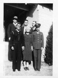Gerald, James,Orville Clyde, Nellie, Frank, Haskins.