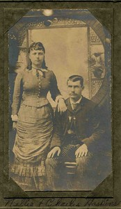 Nellie & Charles Haskins, Grandpa's mom & dad.
