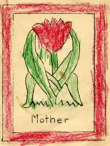 Mothers Day card from Beverly to Reta.