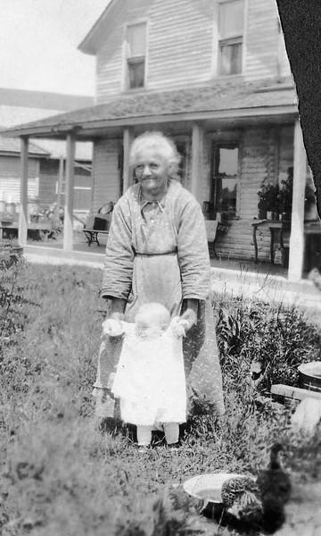 Caroline Becher and grandchild