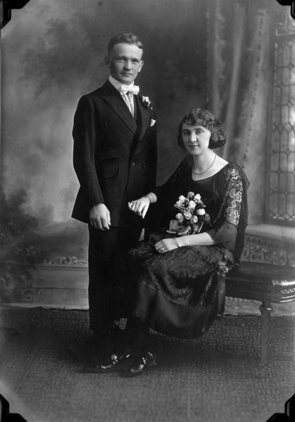 Bert & Emily (Miller) Becher- Wedding Day