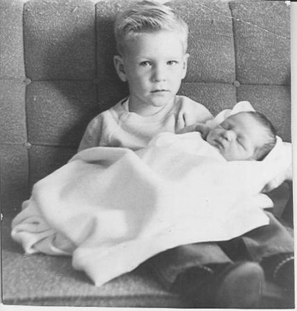 Marty holding Barbara.