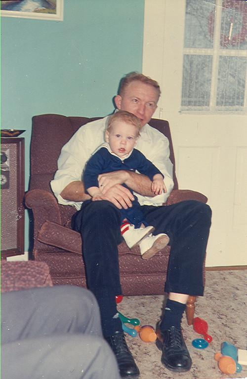 Jack Jones holding Marty Jones
