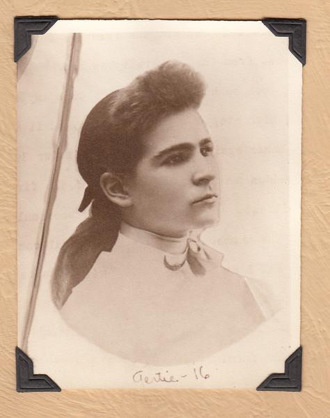 Gertrude Amy Keene, 16 yrs old, Wisconsin, from Maude Keene Gill's album
