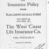 Back of embossed business card (palm size) for Joe Major, Spokane. Joe Major was second husband of Gertrude Amy Keene.