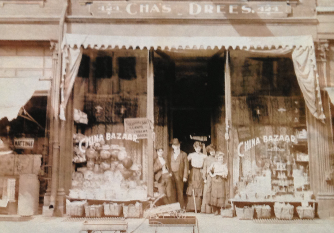 1895 Charles Drees store on 424 Main Street, later renamed the Crystal Palace.