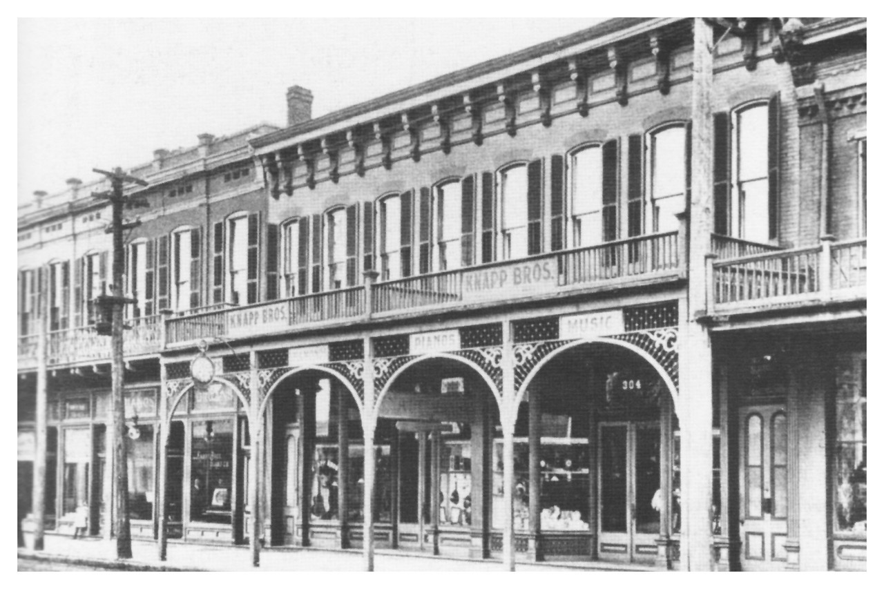 1895 Hedwig Krebs (Maa) was born above Knapp Bros. Furniture, August 1, 1895. The store was located at 304 East Main Street in Belleville, IL.