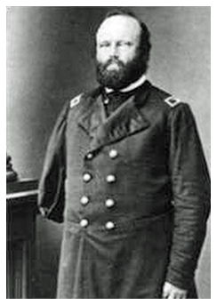 1869 Gen. Hugo Arel Wangelin Birth date: 11 Jul 1818; Death date: 18 Oct 1882 Hugo Wangelin, a native of Prussia, immigrated to the United States in the 1830s. He joined the 12th Missouri Infantry on August 10, 1861 as the regiment's major. He was promoted to colonel on June 14, 1862, and assumed command of the regiment; he retained command of the 12th for the remainder of the war, but also commanded a brigade during the Chattanooga and Atlanta campaigns.  The 12th Missouri Infantry fought at Pea Ridge, Arkansas Post, Vicksburg, Lookout Mountain, Missionary Ridge, Kennesaw Mountain, and Atlanta. Wangelin was severely wounded during an assault on Ringgold Gap, Georgia in late November 1863, resulting in the amputation of his right arm.  Colonel Wangelin mustered out with his regiment on October 18, 1864. Until his death, he celebrated the anniversary of losing his arm by gathering his children and having an oyster dinner. He lived at 314 Abend Street in Belleville and died in Belleville, Illinois, in 1882.
