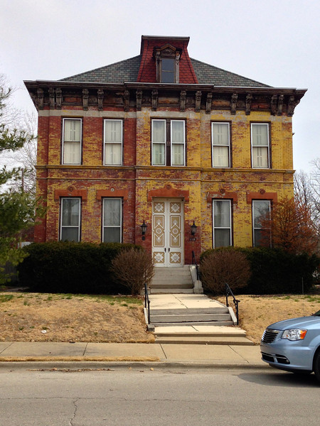 1890 Mark  toured Belleville in March of 2013 with his third cousin, Janet Conant, and took this photo of the Hartmann home being restored.