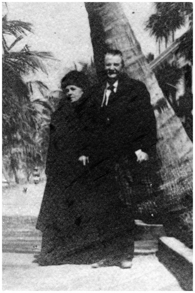1880 Anna Amalie Katerina Hartmann and Bernardt Rudolph Arnold Hartmann on a Florida vacation. Bernard and his brother, Hubert, owned the Star Brewery, the present site of St. Teresa Catholic Church in Belleville. Bernard died a millionaire, November 13, 1919, just five months before his great granddaughter, Jane Krebs, was born.