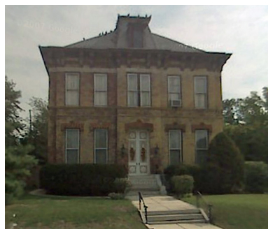 1890  (Using 1890 date for a side-by-side comparison when viewed chronologically.) The Hartmann House as it appears in 2011 on Google Maps.